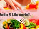Haftada 3 Kilo Verdiren Diyet Listesi