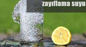 Zayıflama Suyu Tarifi